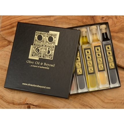 Citrus Fall Olive Oil Balsamic Vinegar Gift Set - Black