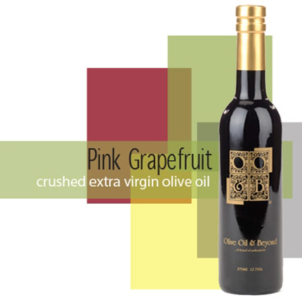 Bottle of Crushed Pink Grapefruit Extra Virgin Olive Oil Organic