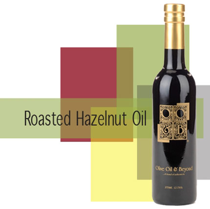 Bottle of Roasted Hazelnut Oil, Organic
