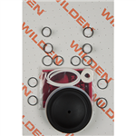 Wilden 01-9805-55 Wet Kit, 1/2'' Original Clamped, All Plastics, PTFE w/Neoprene Back-up (1/2'' O/P/TNU)