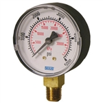 "WIKA 4253043 Pressure Gauge, Type 111.10, 2.5"" Dial, Copper Alloy Wetted Parts, ABS Case, 30 IN Hg Vacuum to 30 PSIG Range, 1/4"" MNPT Lower Connection"