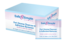Safe and Simple SNS00550 Safe N Simple Peri-Stoma Cleanser and Adhesive Remover Wipe, Thick and Soft, No-Sting, Individually wrapped, Box of 50 wipes