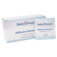 Safe and Simple SNS00651 Safe N Simple  Adhesive Remover Wipe, Box of 50 wipes
