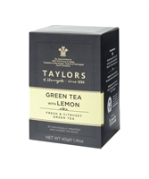Taylors of Harrogate Green Tea with Lemon - 20  Wrapped Tea Bags