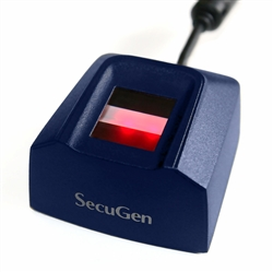 The SecuGen Hamster Pro HUPx is built with the industry's most rugged and advanced optical sensor using patented fingerprint technology.