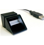 The SecuGen UPx fingerprint OEM module captures and transmits fingerprint data via USB.