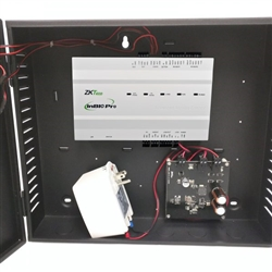 The ZKAccess InBio-160 Pro Access Control Bundle connects with a variety of electric locks, sensors, exit buttons, alarm devices, and indicators