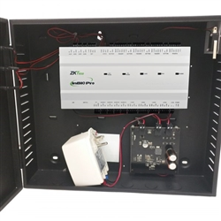 The ZKAccess InBio-460 Pro Access Control Bundle connects with a variety of electric locks, sensors, exit buttons, alarm devices, and indicators