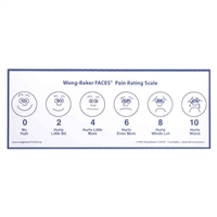 "Wong-Baker FACES® Pain Rating Scale Plastic Waterproof Poster 5"" by 14"""