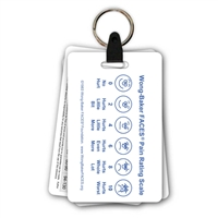 Pediatric 5 Card Badge Card Keychain Set