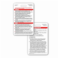 ABA Burn Guidelines and Referral Criteria Vertical Badge Card