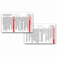 ABA Burn Guidelines and Referral Criteria Horizontal Badge Card