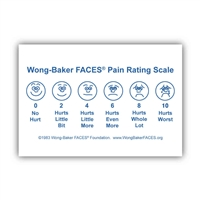 "Wong-Baker FACES® Pain Rating Scale Large Poster 13""x19"""