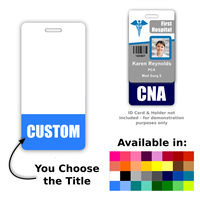 Custom Vertical Badge Buddy - One Line