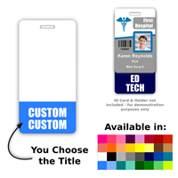Custom Vertical Badge Buddy - Two Lines
