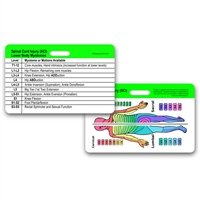 SCI Dermatomes & L1-S5 Myotomes Horizontal Badge Card