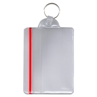 Badge Holder with Zipper Closure and Key Ring