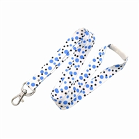 Polka Dot Lanyard with Trigger Hook and Split Ring (Multiple Colors)