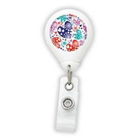 Heart Pattern Design Badge Reel