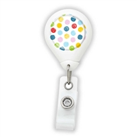 Colorful Dots Badge Reel