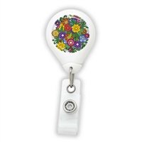 Colorful Flowers Badge Reel
