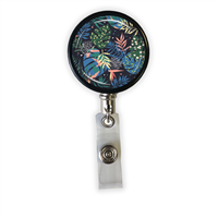 Blue Leaves Heavy Duty Steel Cord Badge Reel