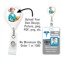 Custom White Badge Reel