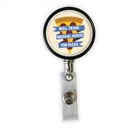 Medical Advice for Pizza Heavy Duty Steel Cord Badge Reel