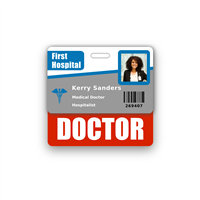DOCTOR Badge Buddy Horizontal Standard Size