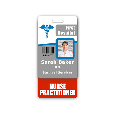 NURSE PRACTITIONER Badge Buddy Vertical Standard Size