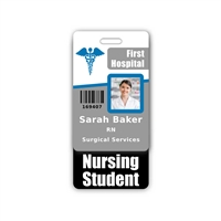 Nursing Student Badge Buddy Vertical Standard Size