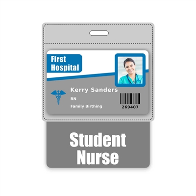 Student Nurse Badge Buddy Horizontal Oversized