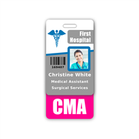 CMA Badge Buddy Vertical Standard Size