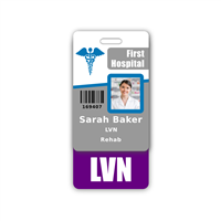 LVN Badge Buddy Vertical Standard Size