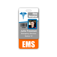 EMS Badge Buddy Vertical Standard Size