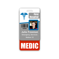 MEDIC Badge Buddy Vertical Standard Size
