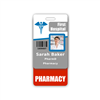 PHARMACY Badge Buddy Vertical Standard Size