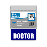 DOCTOR Badge Buddy Horizontal Oversized