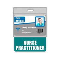 NURSE PRACTITIONER Badge Buddy Horizontal Oversized