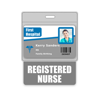 REGISTERED NURSE Badge Buddy Horizontal Oversized