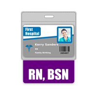 RN, BSN Badge Buddy Horizontal Oversized