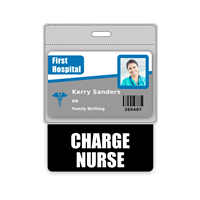 CHARGE NURSE Badge Buddy Horizontal Oversized