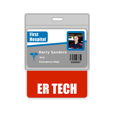 ER TECH Badge Buddy Horizontal Oversized