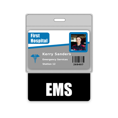 EMS Badge Buddy Horizontal Oversized
