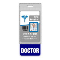 DOCTOR Badge Buddy Vertical Oversized