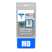 MD Badge Buddy Vertical Oversized