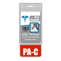 PA-C Badge Buddy Vertical Oversized