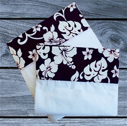 Navy Hibiscus Sheet Set