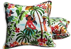 Hula Heart Throw Pillow