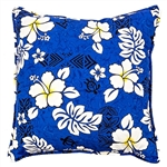 Blue Lava Rocks Throw Pillow